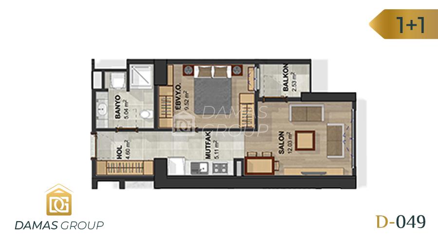 مجمع داماس 049 في اسطنبول  - صورة مخطط 01