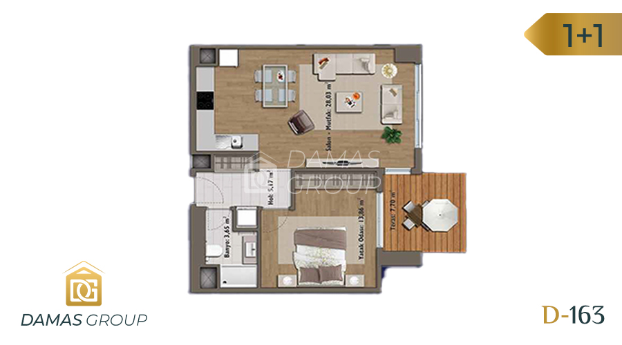 Damas Project D-163 in Istanbul - Floor Plan 01