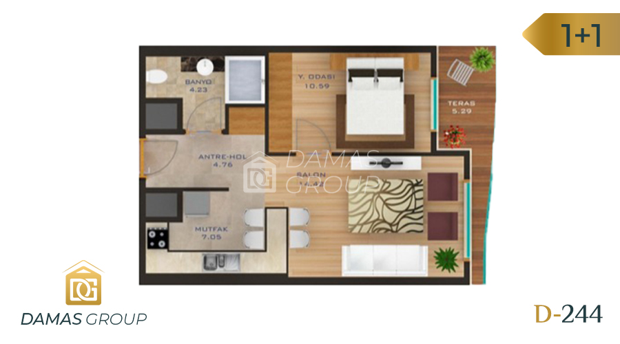 Damas Project D-244 in Istanbul - Floor Plan 01