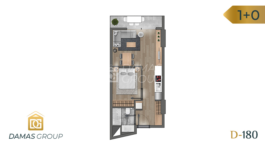 Damas Project D-180 in Istanbul - Floor Plan 01