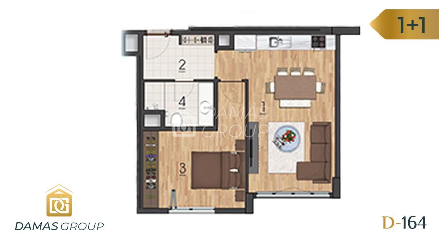 Damas Project D-1641 in Istanbul - Floor Plan 01