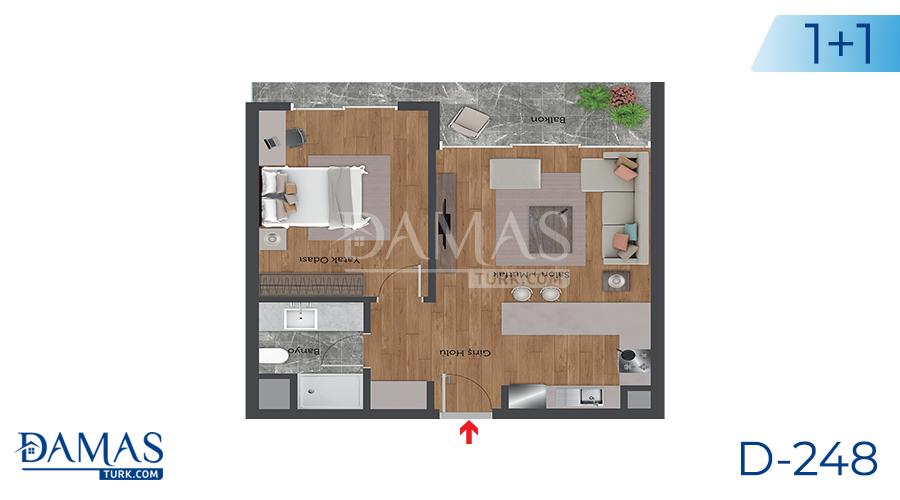 مجمع مجموعة داماس 248 في اسطنبول - صورة مخطط 01