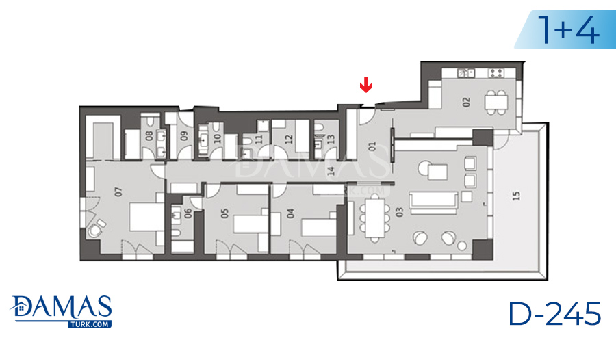 Damas Project D-245 in Istanbul - Floor plan picture  01