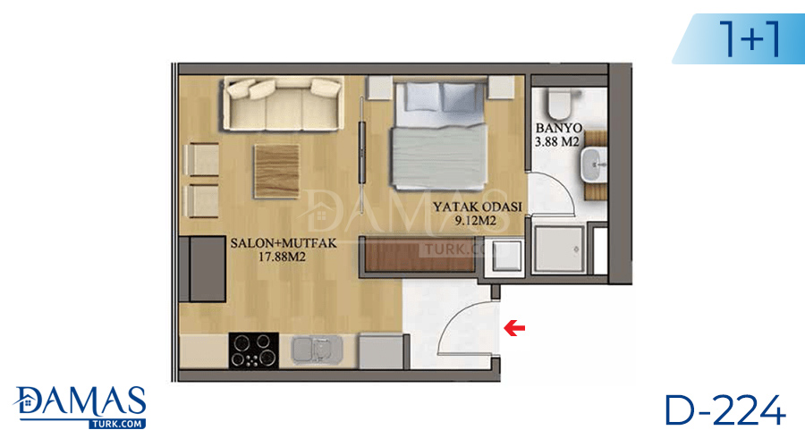 Damas Project D-224 in Istanbul - Floor plan picture  01