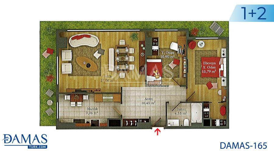 مجمع مجموعة داماس 165 في اسطنبول - صورة مخطط 01