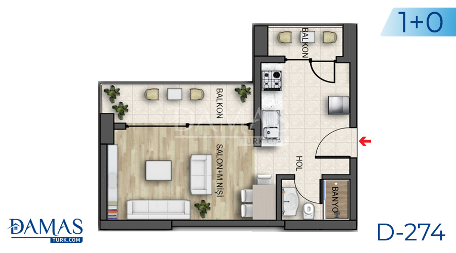 Damas Project D-274 in Istanbul - Floor plan picture 01