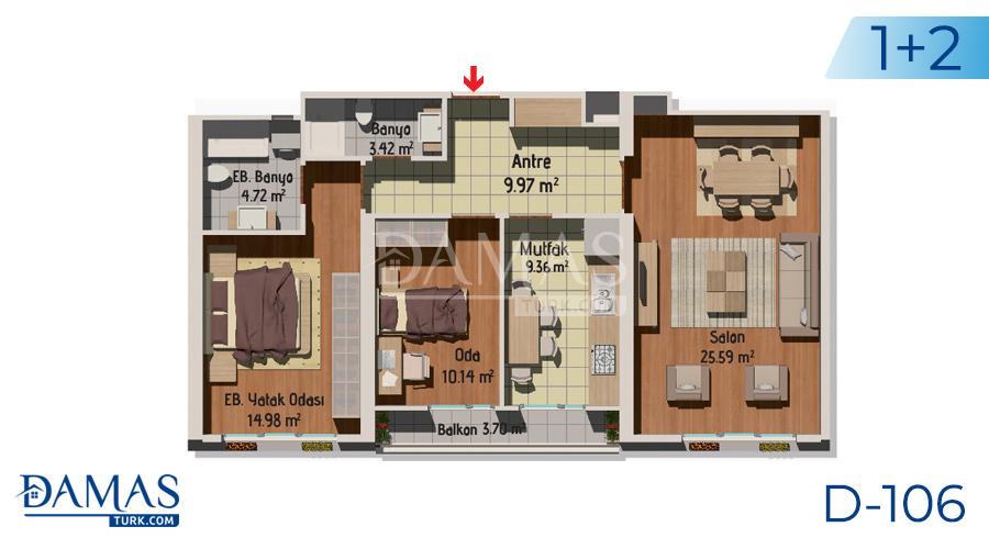 مجمع مجموعة داماس 106 في اسطنبول - صورة مخطط 01