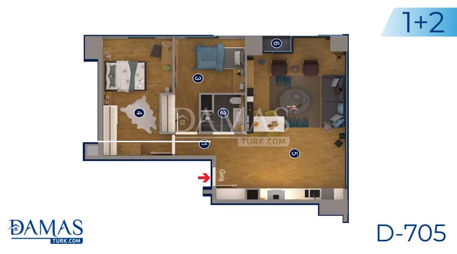 Damas Project D-705 in Ankara - Floor plan picture 01