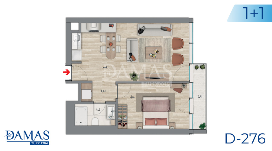 Damas Project D-276 in Istanbul - Floor plan picture 01