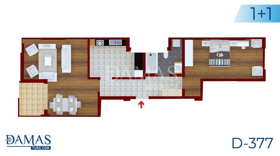 مجمع داماس 377 في يلوا - صورة مخطط  01