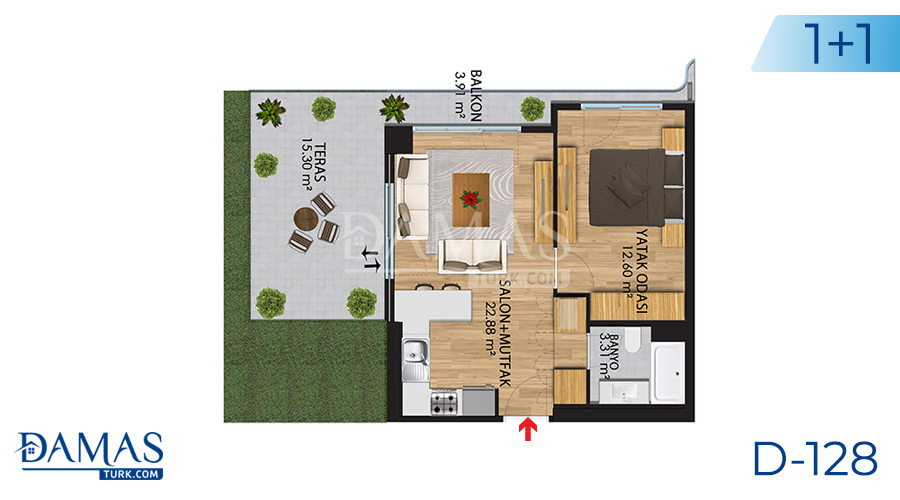 Damas Project D-128 in Istanbul - Floor plan picture 01