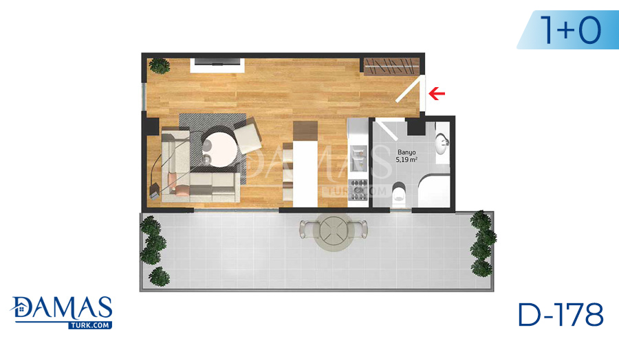 Damas Project D-178 in Istanbul - Floor plan picture  01