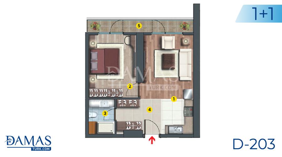 مجمع مجموعة داماس 203 في اسطنبول - صورة مخطط 01