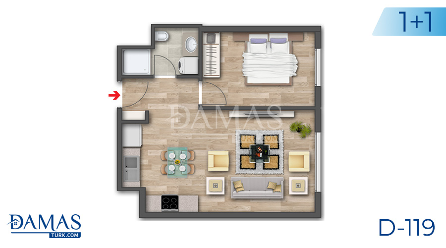 Damas Project D-119 in Istanbul - Floor plan picture 01
