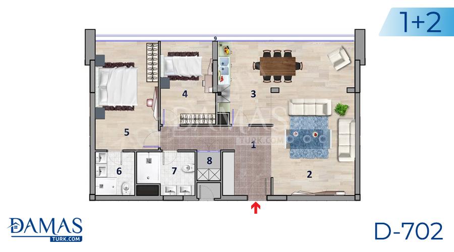 مجمع داماس 702 في أنقرة - صورة مخطط 01