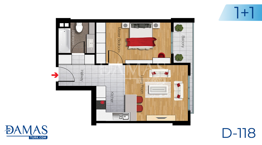 Damas Project D-118 in Istanbul - Floor plan picture 01
