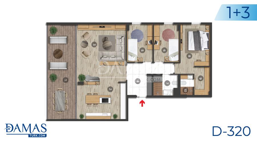 مجمع داماس 320 في بورصة - صورة مخطط 01