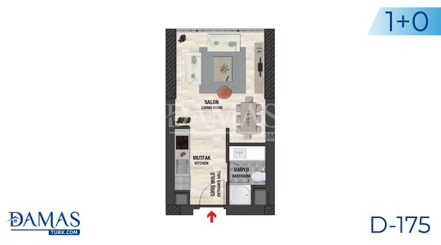 مجمع مجموعة داماس 175 في اسطنبول - صورة مخطط 01