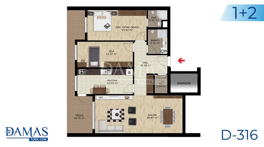 Damas Project D-316 in Bursa - Floor plan picture  01