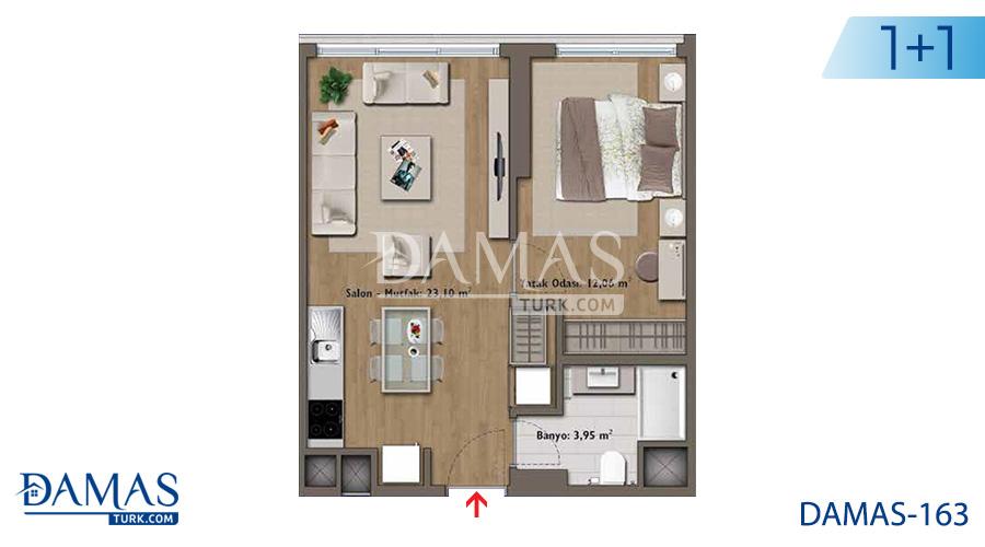 مجمع مجموعة داماس 163 في اسطنبول - صورة مخطط 01