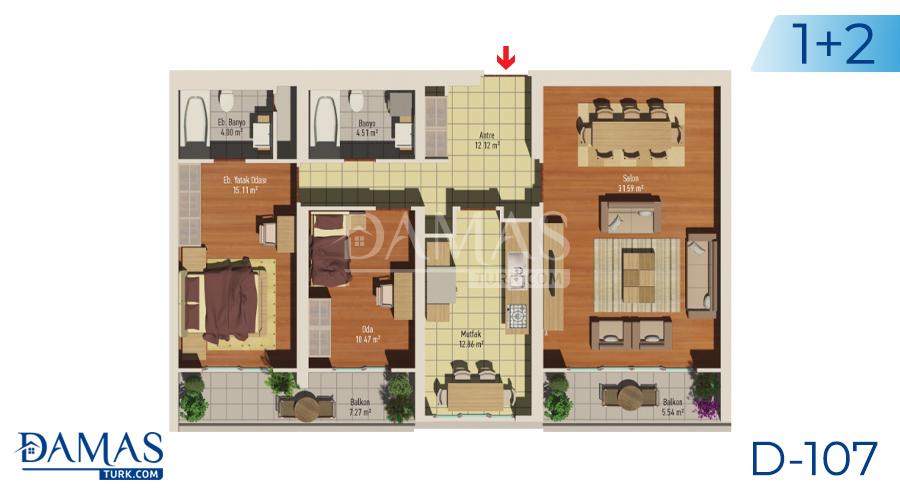 مجمع مجموعة داماس 107 في اسطنبول - صورة مخطط 01