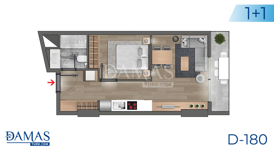 Damas Project D-180 in Istanbul - Floor plan picture  01