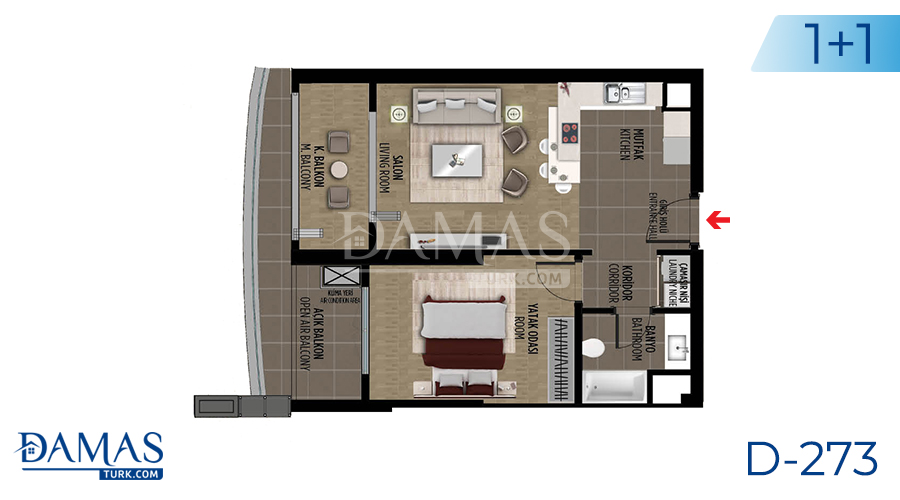 Damas Project D-273 in Istanbul - Floor plan picture 01
