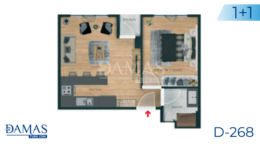 Damas Project D-268 in Istanbul - Floor plan picture 01