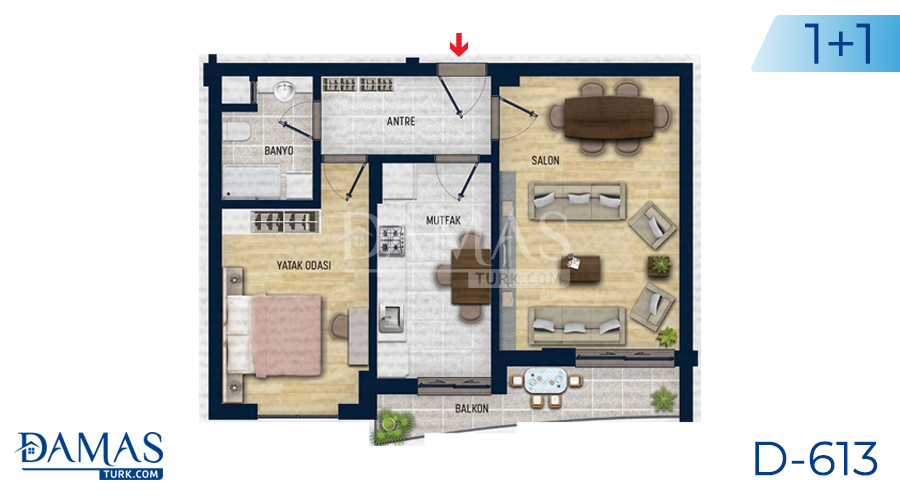 Damas Project D-613 in Antalya - Floor plan picture 01
