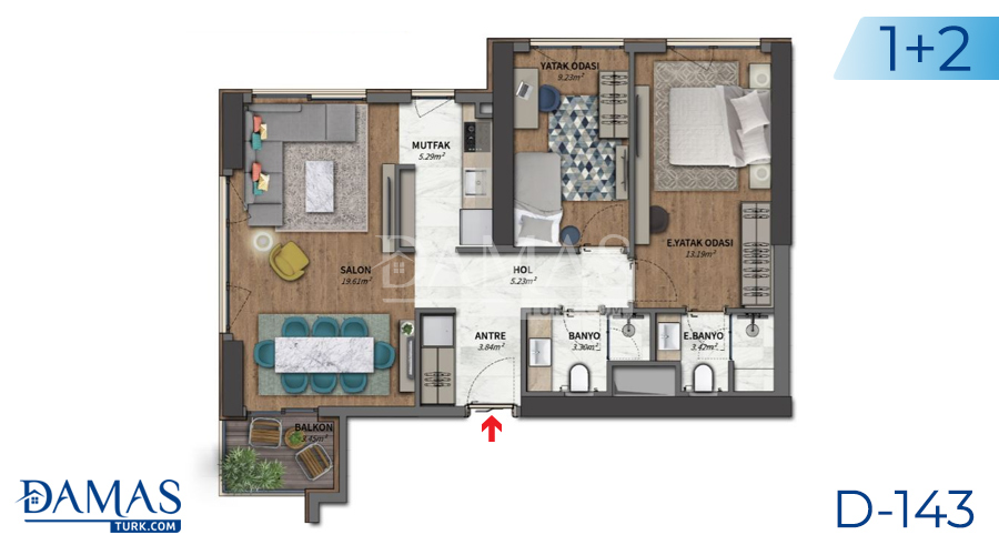 Damas Project D-143 in Istanbul - Floor plan picture 01