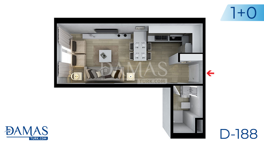 Damas Project D-188 in Istanbul - Floor plan picture  01
