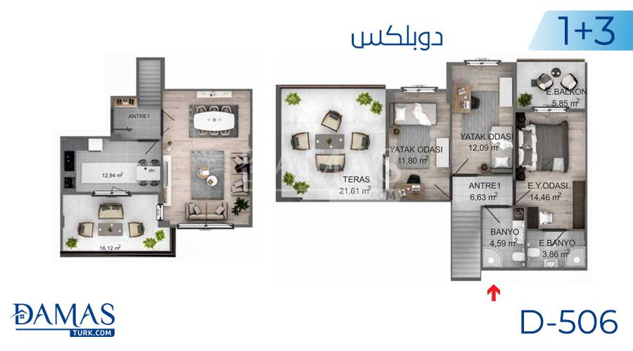 مجمع مجموعة داماس 506 في كوجالي - صورة مخطط 01