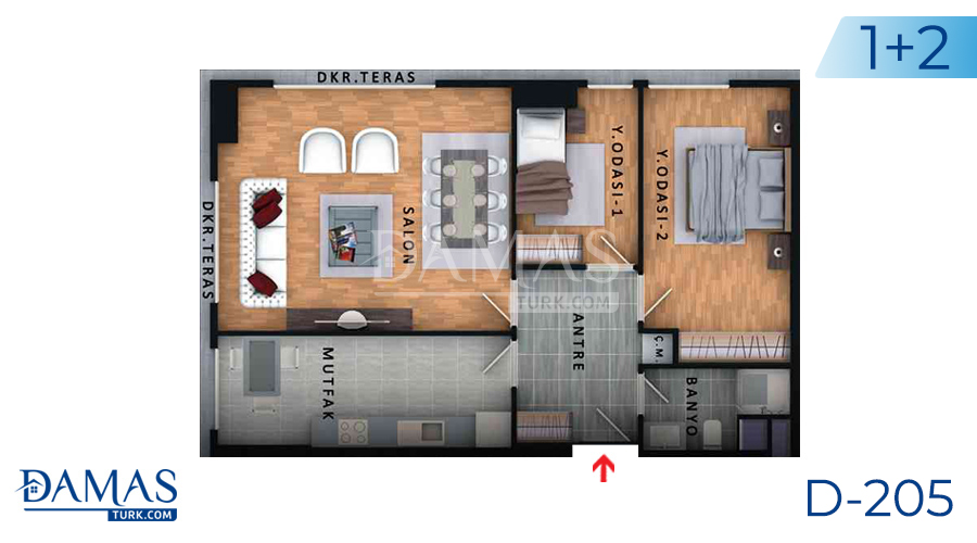 مجمع مجموعة داماس 205 في اسطنبول - صورة مخطط 01