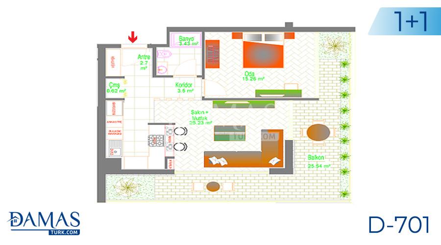 Damas Project D-701 in Ankara - Floor plan picture 01