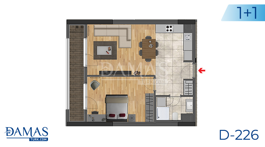 Damas Project D-226 in Istanbul -Floor plan picture  01