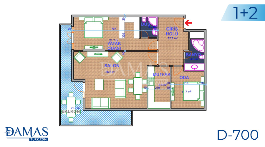 Damas Project D-700 in Ankara - Floor plan picture 01