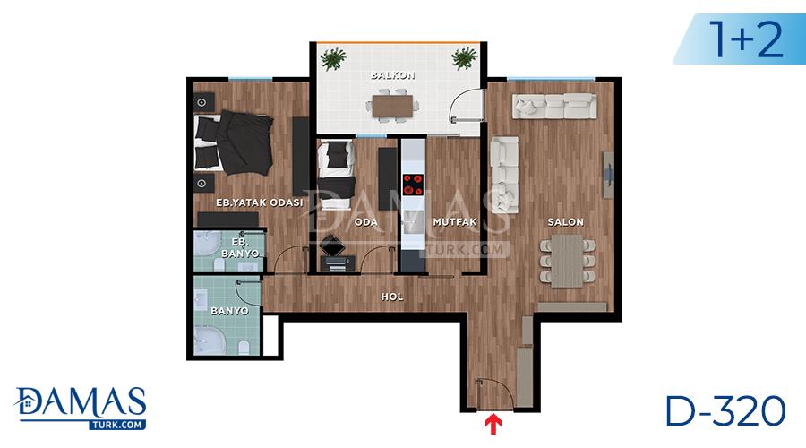 Damas Project D-319 in Bursa - Floor plan picture 01