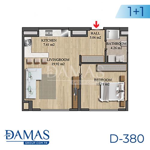 مجمع داماس 380 في اسطنبول - صورة مخطط 01