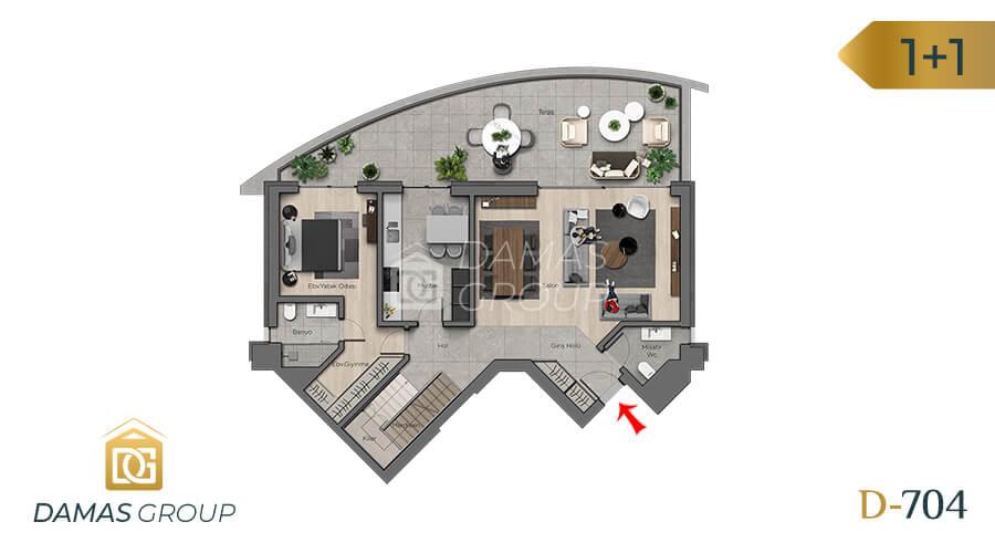 Damas Project D-704 in Ankara - Floor Plan 01