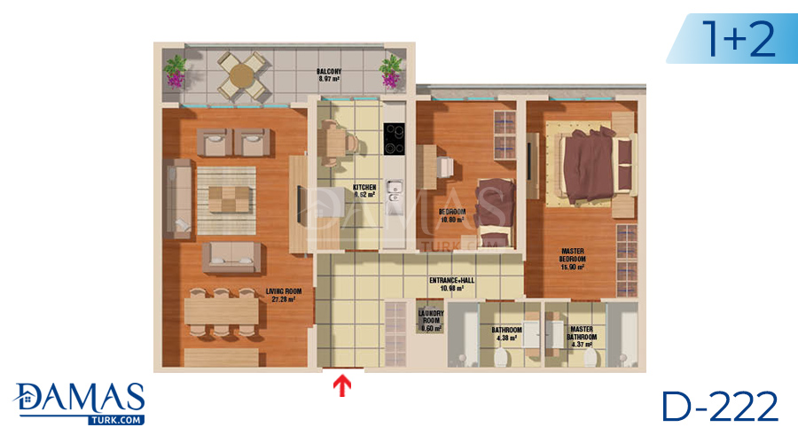 Damas Project D-222 in Istanbul - Floor plan picture  01