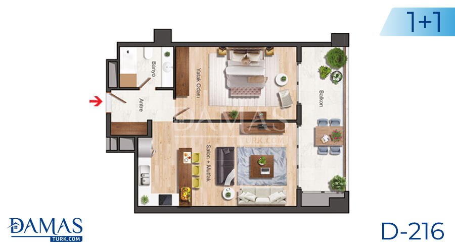 Damas Project D-216 in Istanbul - Floor plan picture  01