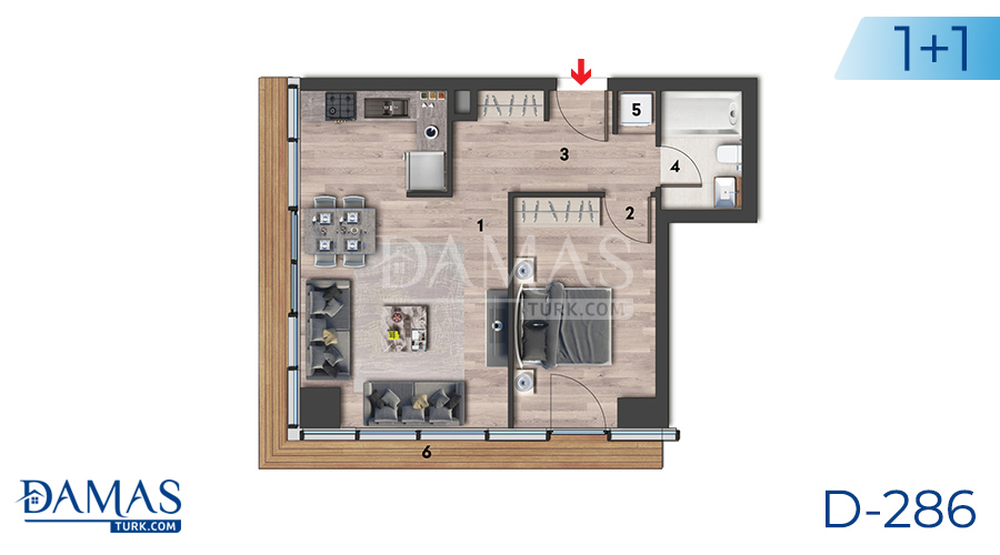 Damas Project D-286 in Istanbul - Flooe plan picture 01