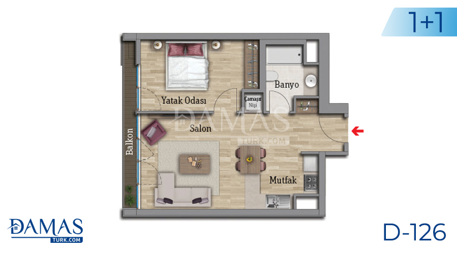 Damas Project D-126 in Istanbul - Floor plan picture 01