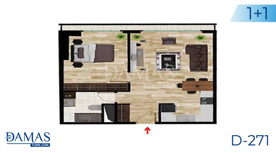 مجمع داماس 271 في اسطنبول - صورة مخطط 01