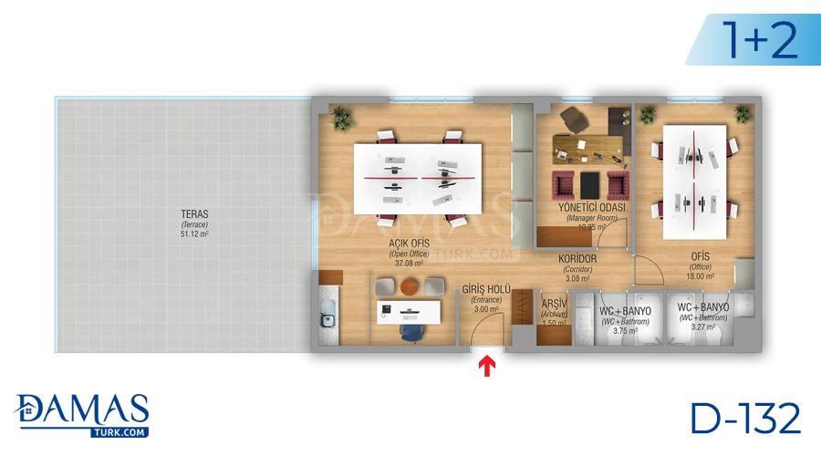 مجمع مجموعة داماس 132 في اسطنبول - صورة مخطط 02