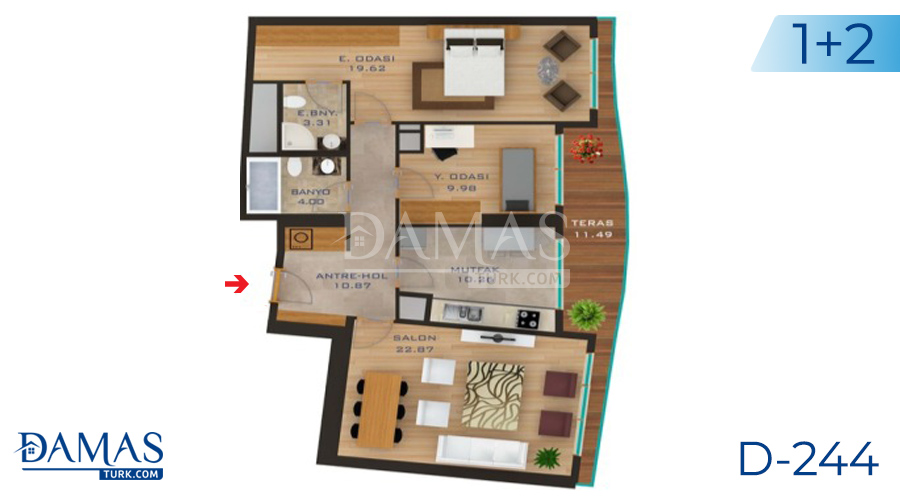 Damas Project D-244 in Istanbul - Floor plan picture  02