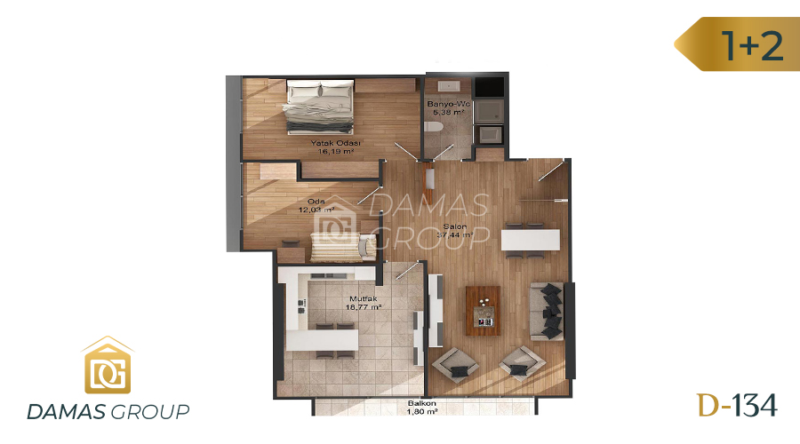 Damas Project D-134 in Istanbul - Floor Plan 04