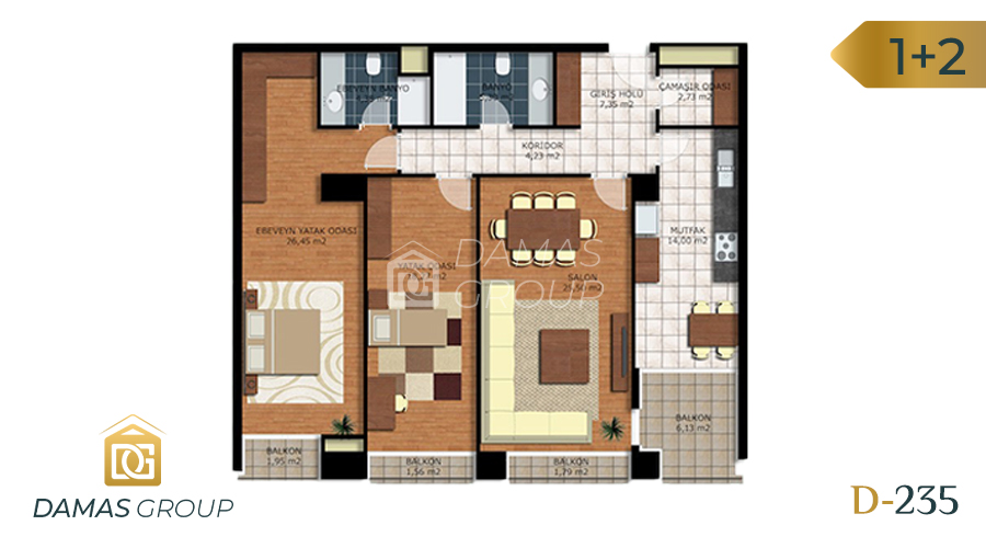 Damas Project D-235 in Istanbul - Floor Plan 02