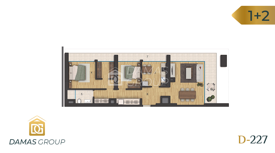 Damas Project D-227 in Istanbul - Floor Plan 04