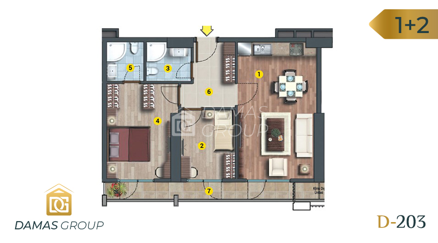 Damas Project D-203 in Istanbul - Floor Plan 03